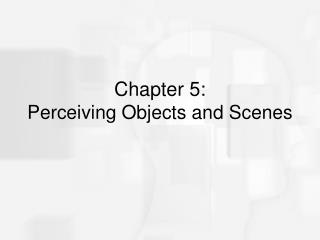 Chapter 5:  Perceiving Objects and Scenes
