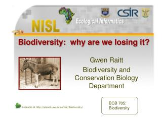 Biodiversity:  why are we losing it
