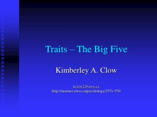 Traits   The Big Five