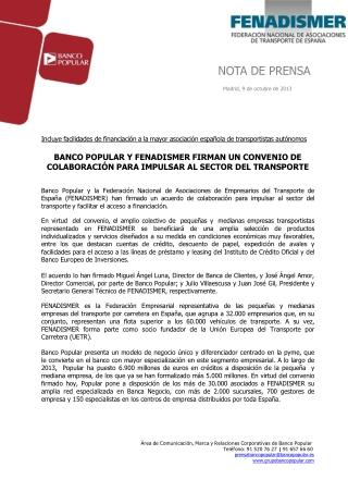 Angel ron y FENADISMER firman un convenio para impulsar el s