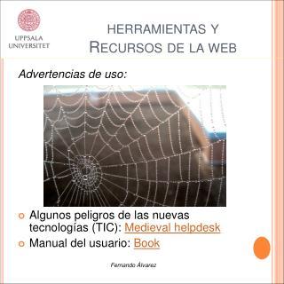 Herramientas y Recursos de la web
