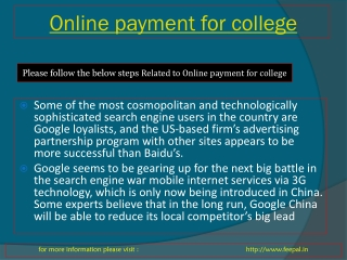 Now collect online payment for college
