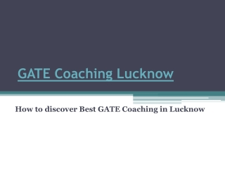 GATE Coaching Lucknow