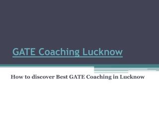 GATE Coaching Lucknow