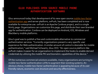 Gluu publishes open source mobile phone authentication soft