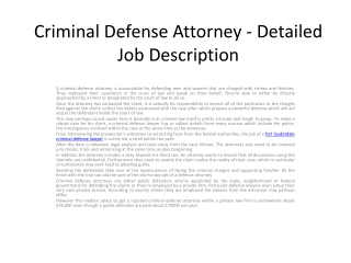 Hiring a Criminal Defense Lawyer Will help You
