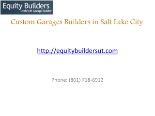 Best garage Builders Company in Salt Lake City, Utah