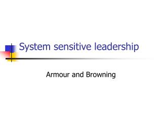 system sensitive leadership