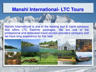LTC Tour Packages- Wonderful Travel Destinations
