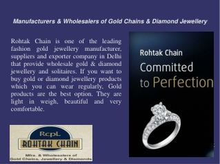 Manufacturers & Wholesalers Of Gold Jewellery