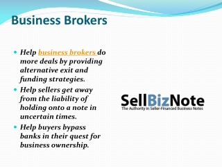 Business Brokers | Seller Financing