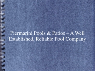 Piermarini Pools