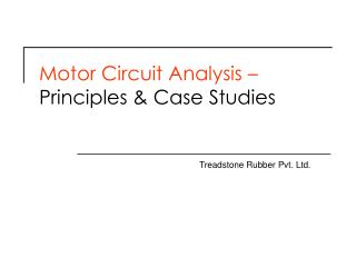 Motor Circuit Analysis   Principles  Case Studies