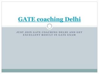 GATE Coaching Delhi