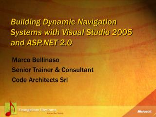 Building Dynamic Navigation Systems with Visual Studio 2005 and ASP 2.0