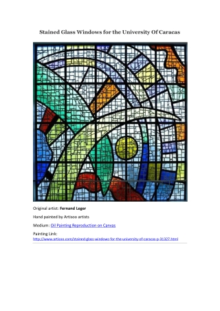 Stained Glass Windows for the University Of Caracas--Artisoo