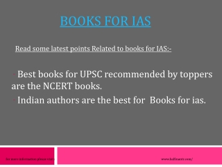 There are some books for IAS that are essential to crack the