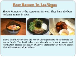 Monta Ramen Las Vegas