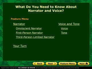 What Do You Need to Know About  Narrator and Voice