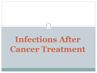 Infection after Cancer Treatment