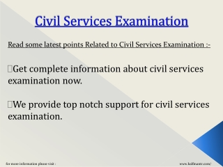 Information about Civil Services Examination