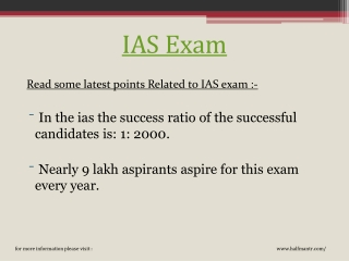 More knowledge about ias exam