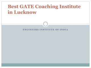 Best GATE Coaching Institute in Lucknow
