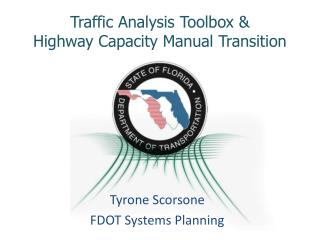 Traffic Analysis Toolbox  Highway Capacity Manual Transition