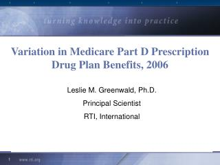 Variation in Medicare Part D Prescription Drug Plan Benefits, 2006