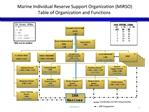 Marine Individual Reserve Support Organization MIRSO   Table of Organization and Functions