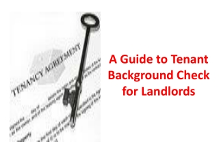 A Guide to Tenant Background Check for Landlords