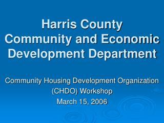 Harris County Community and Economic Development Department