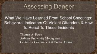 Assessing Danger