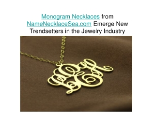 Buy Nameplate Necklace, Monogram Necklace at namenecklacesea