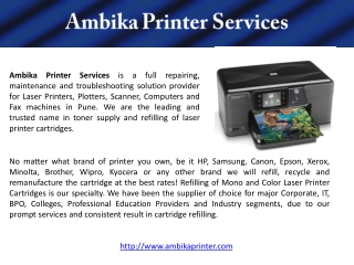 Ambika Printer and Laptop Reparing Services