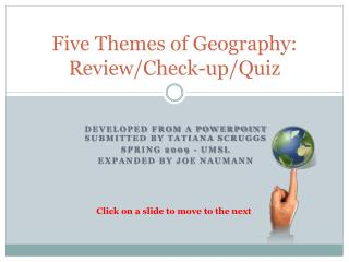 Five Themes of Geography: Review