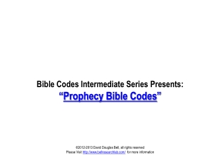 Prophecy Bible Codes