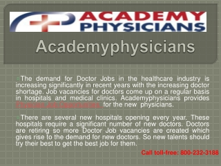 Physician Job Opportunities