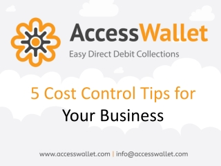 5 Cost Control Tips for Your Business