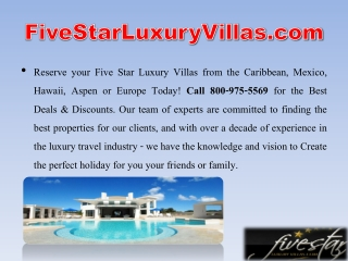 Mexico Luxury Villa Rentals