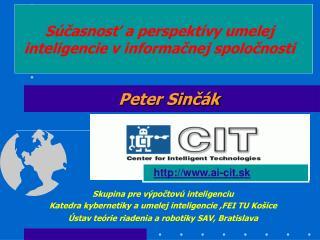 S casnost a perspekt vy umelej inteligencie v informacnej spolocnosti