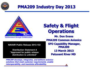 PMA209 Industry Day 2013
