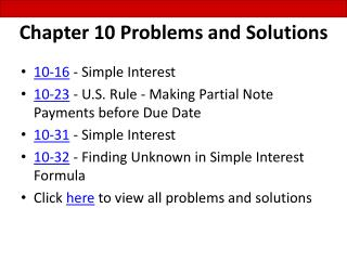 Chapter 10 Problems and Solutions