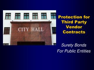 Protection for Third Party Vendor Contracts