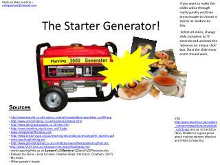 The Starter Generator