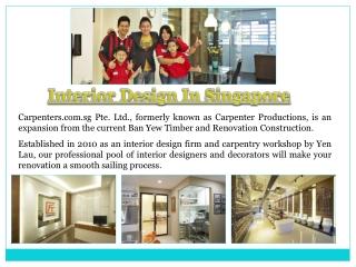 Interior Decoration Singapore