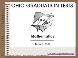 OGT Math  March 2006       TomReardon       C 2006 Reardon Gifts, Inc.