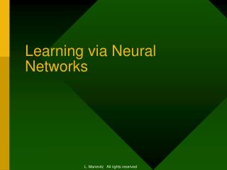 Learning via Neural Networks