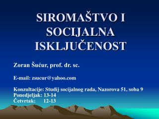SIROMA TVO I SOCIJALNA ISKLJUCENOST