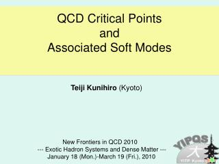 QCD Critical Points and  Associated Soft Modes